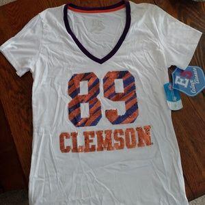 NWT Clemson Tigers Champs Est.1889 Juniors T-Shirt
